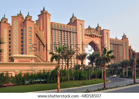 Atlantis Hotel in Dubai - stock photo