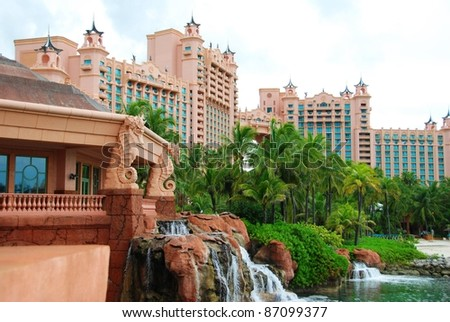 Atlantis on Paradise Island Bahamas - stock photo