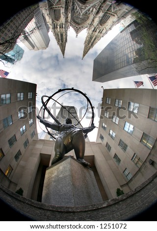 Atlas - manhattan - new york - stock photo