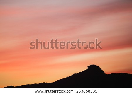 atlas mountain range mountains morocco - stock photo