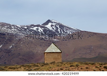 Atlas Mountains, Marrakesh, Morocco. - stock photo