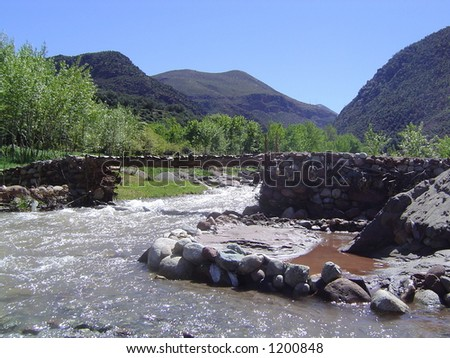 Atlas Mountains - North Africa - stock photo