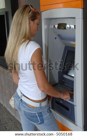 ATM Automatic Teller Machine - stock photo
