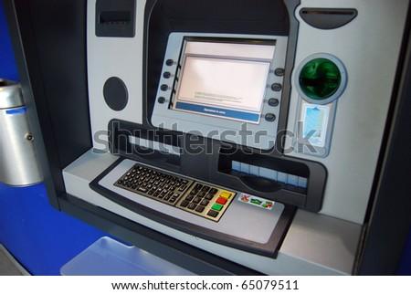 ATM, Automatic Teller Machine - Cash point, dispenser - stock photo