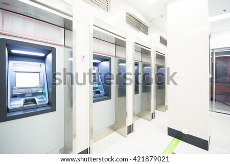 ATM(Automatic Telling Machine) room - stock photo