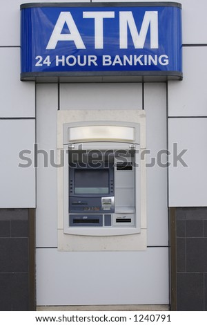 ATM Banking Machine - stock photo