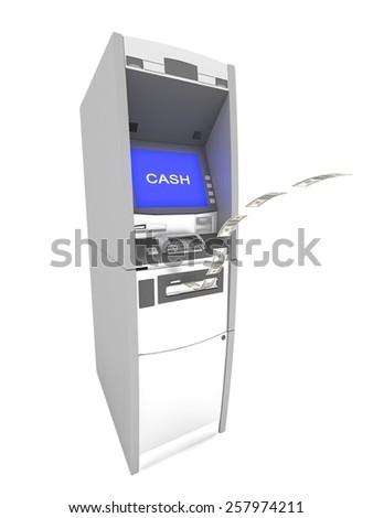 atm cash machine - stock photo