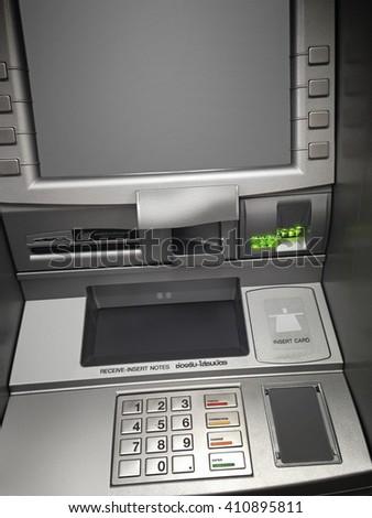 ATM Cash payment for public services. - stock photo