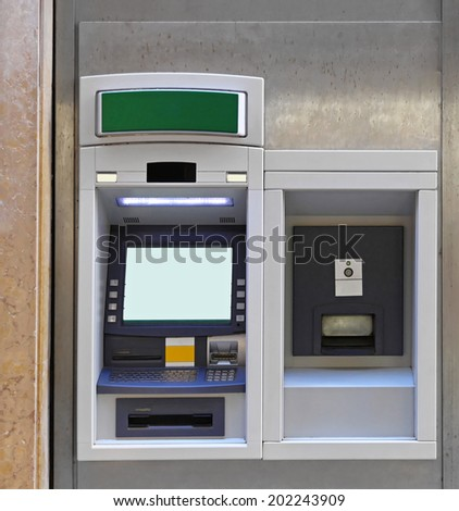 ATM cash point and night safe - stock photo