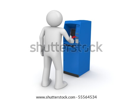 ATM - Finance collection - stock photo