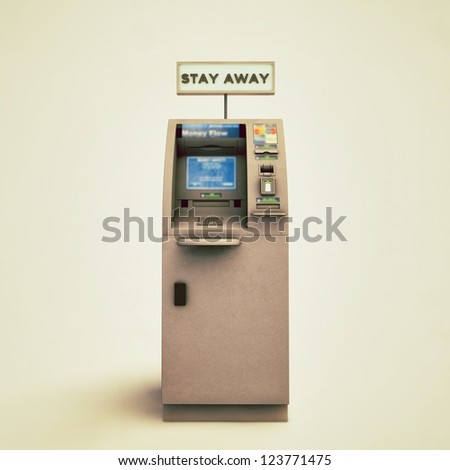 atm isolated on white background - stock photo