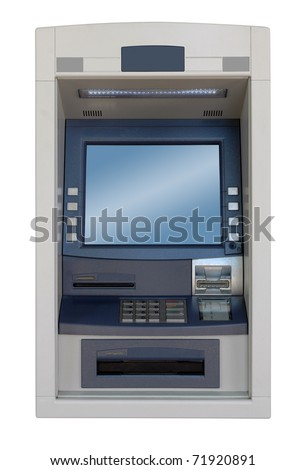ATM machine - front view - stock photo