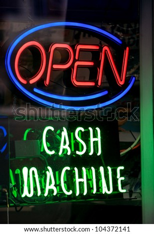 ATM sign - stock photo