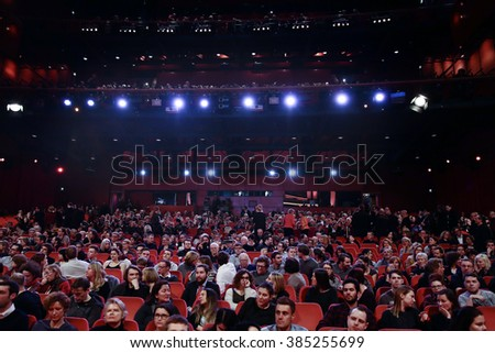 Atmosphere at the 'Hommage For Michael Ballhaus' during the 66th Berlinale International Film Festival Berlin at Berlinale Palace on February 18, 2016 in Berlin, Germany.  - stock photo