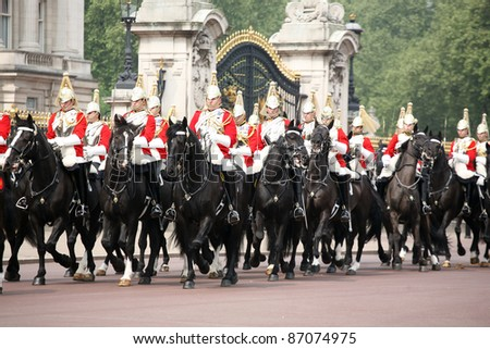 Atmosphere during The wedding of HRH Prince William and Catherine Middleton, at Buckingham Palace, on 29/04/2011. Picture by: Alexandra Glen / Featureflash - stock photo