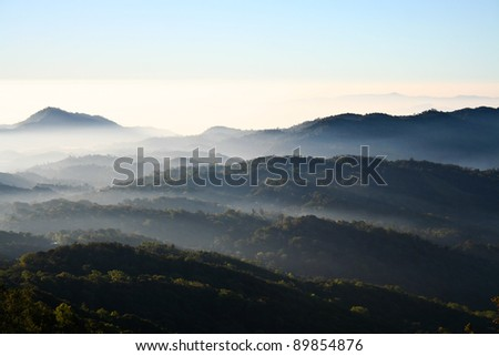 Atmosphere on mountain ,Doi inthanon  Thailand