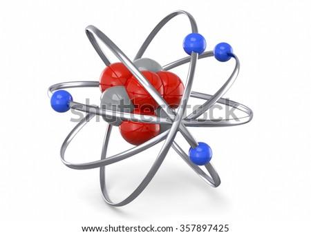 ATOM - 3D - stock photo