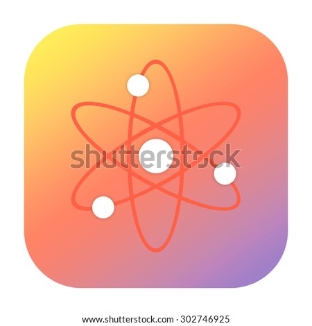 Atom icon - stock photo