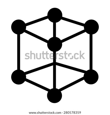 Atom icon isolated on white background.  - stock photo