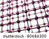 atom lattice structure - stock photo