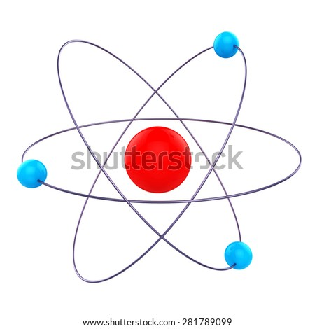 Atom Molecule Showing Chemical Molecular And Chemicals - stock photo
