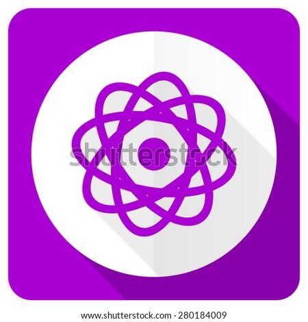 atom pink flat icon   - stock photo