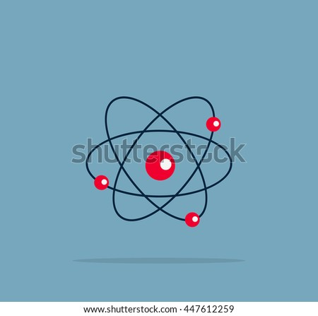 Atom structure symbol of electron.  illustration - stock photo