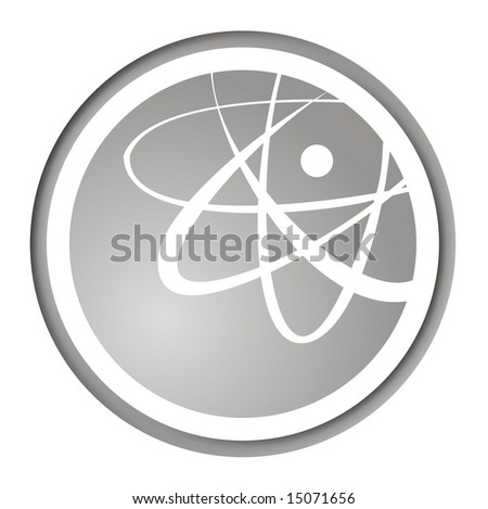Atomic fashion icon , illustration on white background. - stock photo