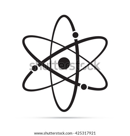 Atomic Model Science Symbol Icon.  Raster Version - stock photo