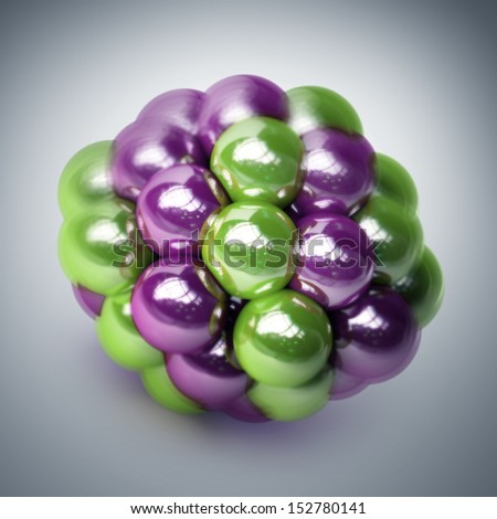 atomic molecule. High resolution 3d render  - stock photo