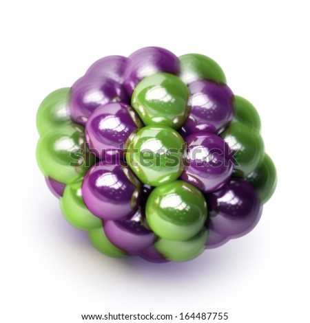 atomic molecule isolated on white background High resolution 3d  - stock photo
