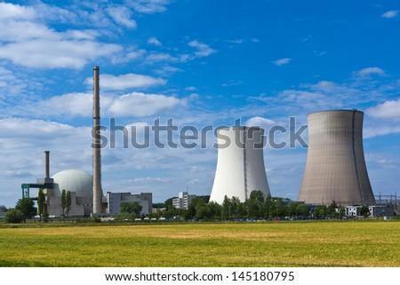 atomic power plant - stock photo