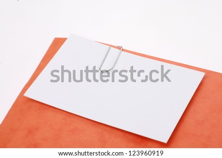 attachment holding by  a paperclip........... - stock photo