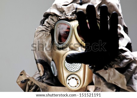 attack ebola epidemic/Stop bio-hazard cotamination - stock photo