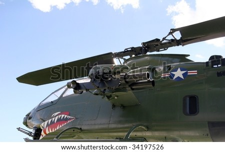 Attack helicopter - stock photo