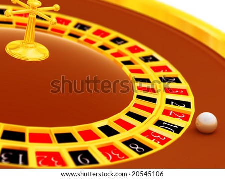 Attempt to win in a roulette in night club - stock photo