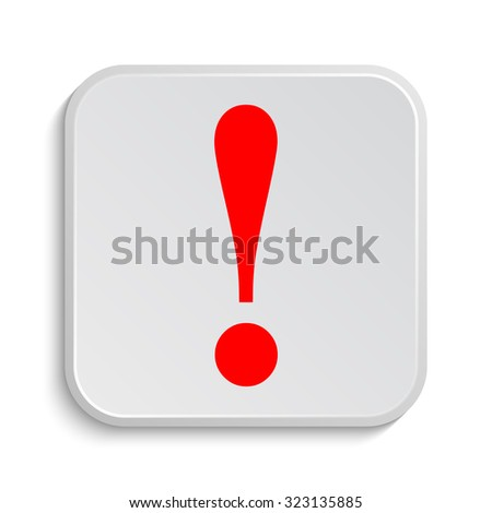 Attention icon. Internet button on white background.  - stock photo