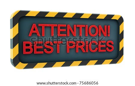 Attention! Low Prices Logo on white