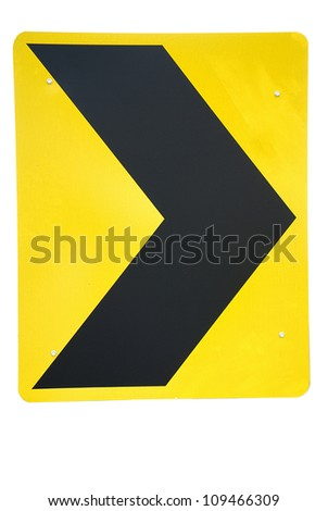 Attention road sign isolated - stock photo