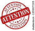attention stamp - stock vector