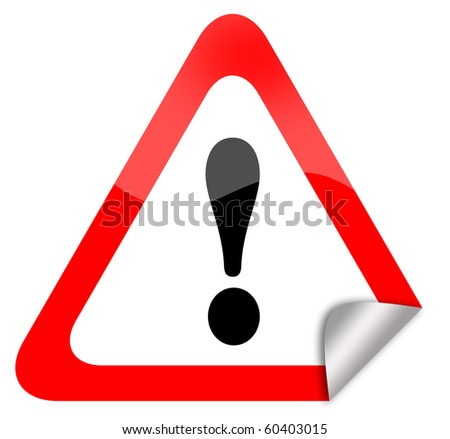Attention warning sign - stock photo