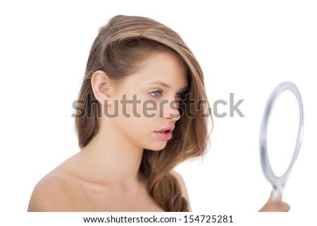 sexy nude model rubbing herself