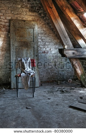 Attic in an abandoned house (H-format ID 51933721) - stock photo