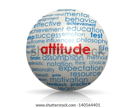 Attitude sphere - stock photo