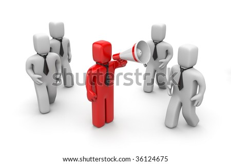 Attract attention of business - stock photo