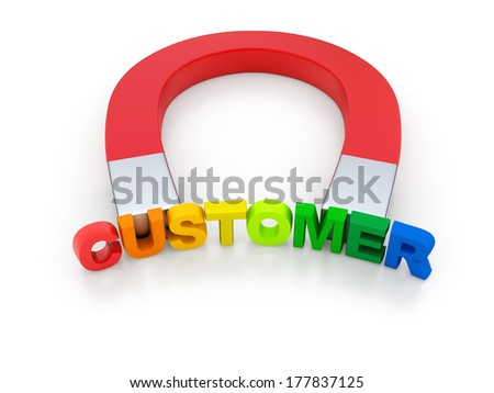 Attract Customers - stock photo