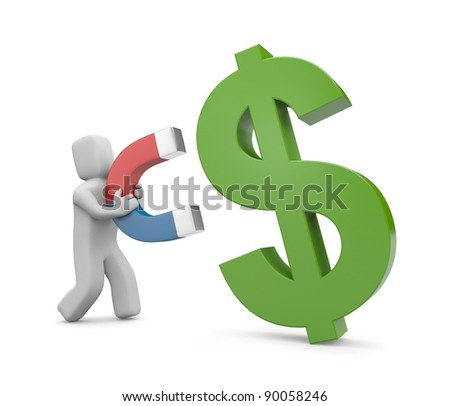 Attraction of investments. Image contain clipping path - stock photo