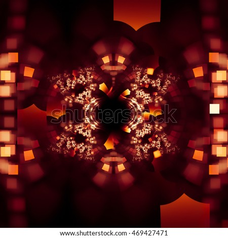 Attractive and spectacular fall on an abstract background.