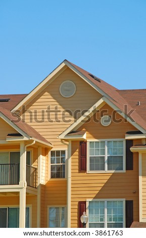 Attractive Apartment Exterior - stock photo