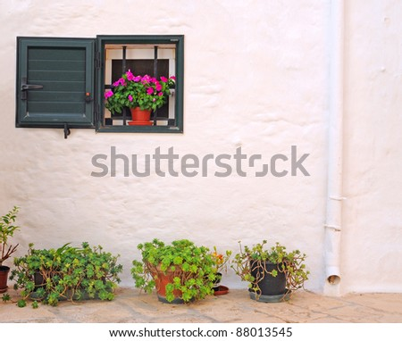Window box spring flowers on old stock photo 157068539 shutterstock for Puglia garden city ny